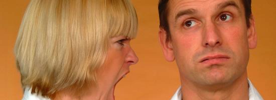 Photo of woman shouting at man