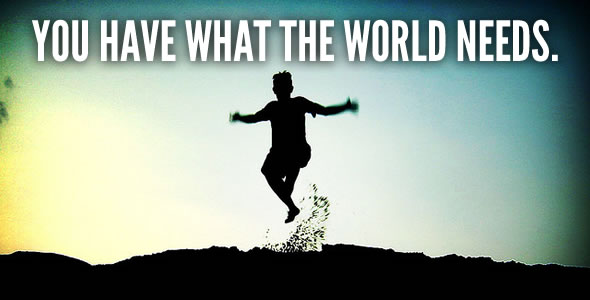 Boy jumping - What the World Needs